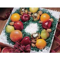 Holiday Fruit in Wreath Design